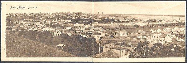Rio Grande do Sul - Porto Alegre, Panorama numero 2, Cartão Postal Tipográfico Antigo Original