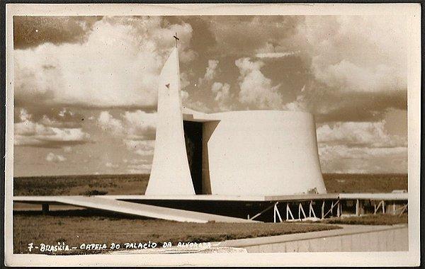 Brasília - Capela do Palácio da Alvorada - Cartão Postal Fotográfico Antigo Original