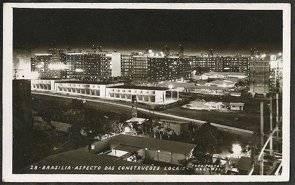 Brasília - Aspectos das Construções Locais - Cartão Postal Fotográfico Antigo Original