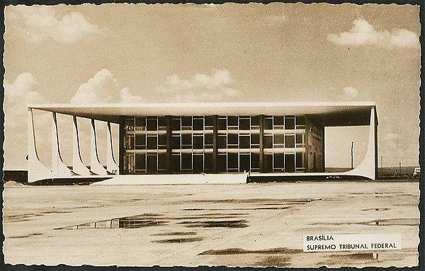 Brasília - Prédio do Supremo Tribunal Federal - Cartão Postal Fotográfico Antigo Original