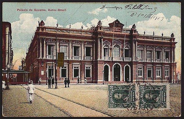Bahia - Palácio do Governo - Cartão Postal Tipográfico Antigo Original