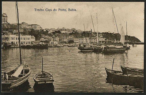 Bahia - Trecho Cais do Porto - Cartão Postal Tipográfico Antigo Original