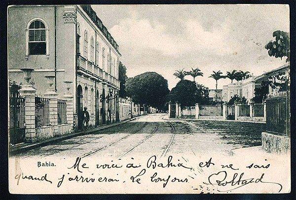 Bahia  - Cartão Postal Fotográfico Antigo Original de 1906