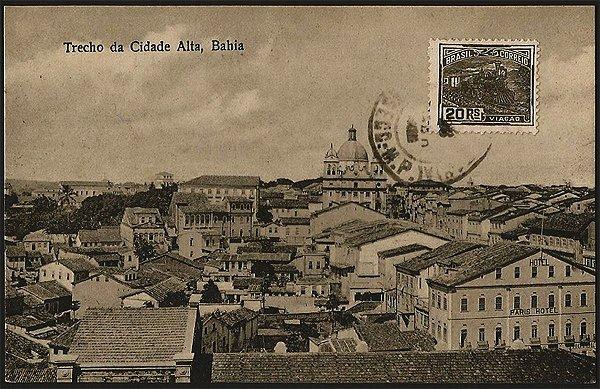 Bahia  - Trecho da Cidade Alta - Cartão Postal Fotográfico Antigo Original de 1925