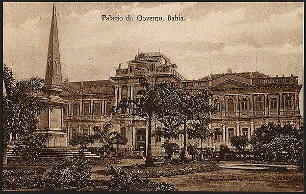 Bahia  - Palácio do Governo - Cartão Postal Fotográfico Antigo Original