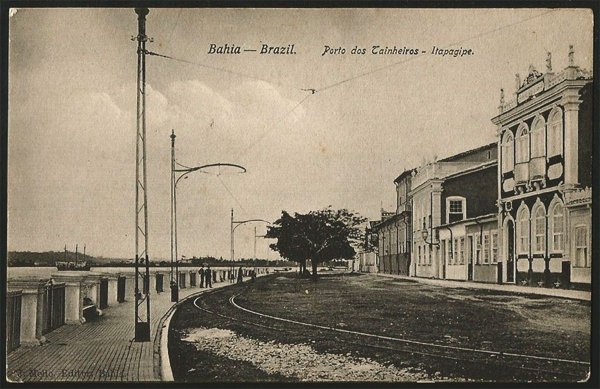 Bahia  - Porto dos Tainheiros, Itapagipe - Cartão Postal Tipográfico Antigo Original