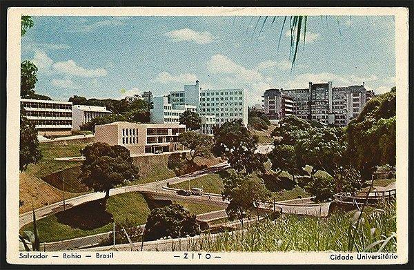 Bahia  - Salvador, Cidade Universitária -  Cartão Postal Fotográfico Antigo Original