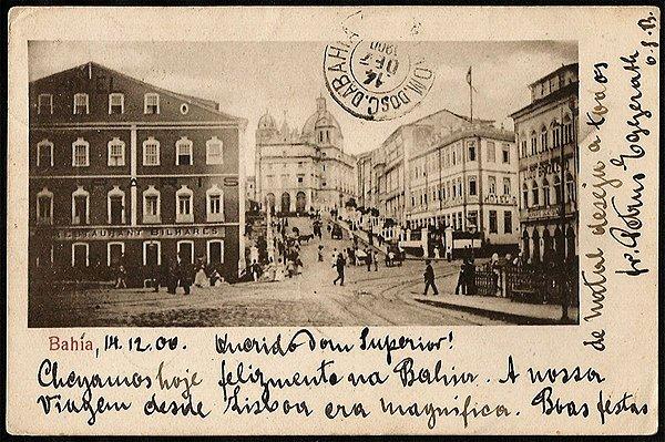 Bahia  - Salvador -  Cartão Postal Tipográfico Antigo Original de 1900