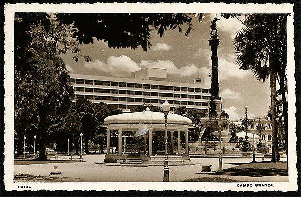 Bahia  - Salvador -  Campo Grande - Cartão Postal Fotográfico Antigo Original