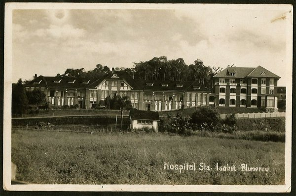 Santa Catarina - Blumenau - Hospital Santa Isabel - Cartão Postal Fotográfico Antigo Original