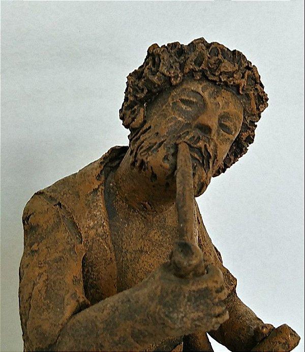 Zé do Carmo - Escultura Em Barro Cozido Preto Velho