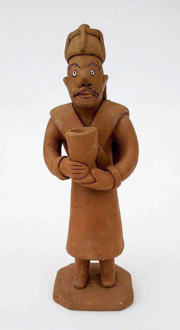 Noemi, Vitalino Filho - Escultura de Barro, Figura de Bispo