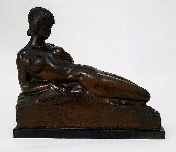 Elio De Giusto - Escultura Em Bronze, Nu Feminino - Lenach