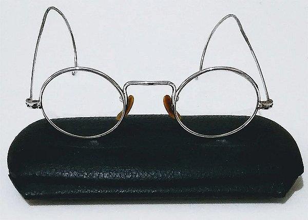 Óculos Antigos Estilo Harry Potter  com Armação Prateada