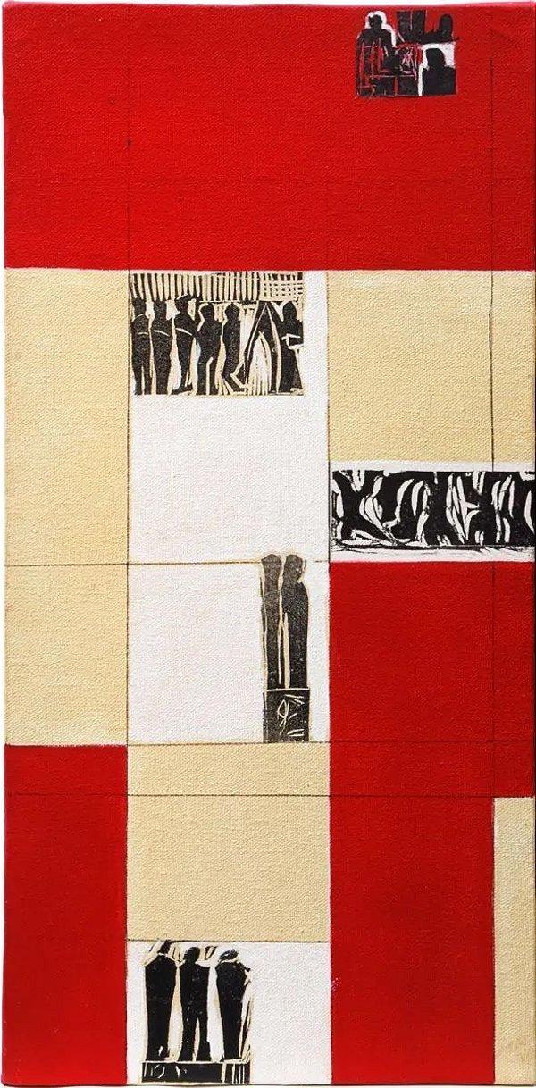 Lyria Palombini - Quadro Técnica Mista Arte Abstrata Assinado