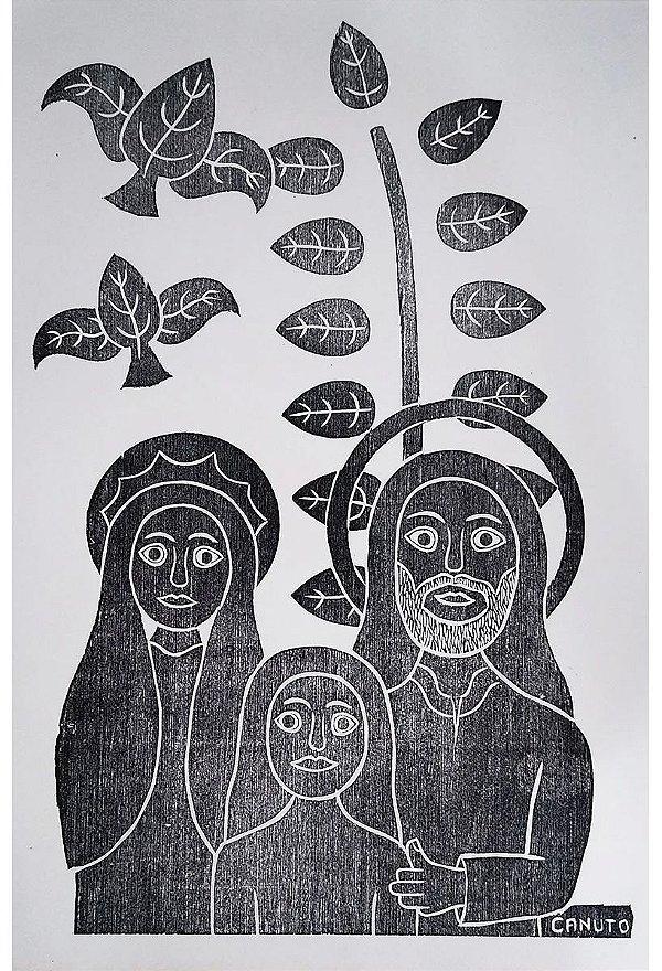 Canuto - Gravura, Xilogravura Original Sagrada Família Assinada na  Chapa