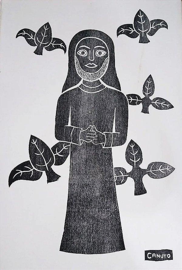 Canuto - Gravura, Xilogravura Original Assinada na Chapa