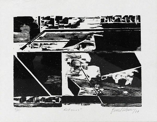 Feres Khoury - Ritmos, Xilogravura Original De 1977
