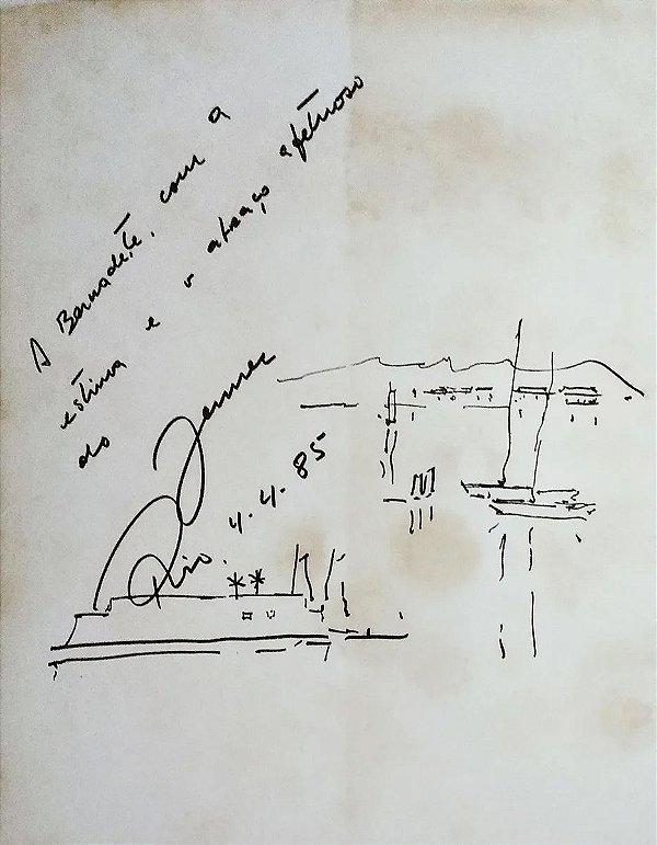 Jenner Augusto - Livro com Desenho Original Assinado