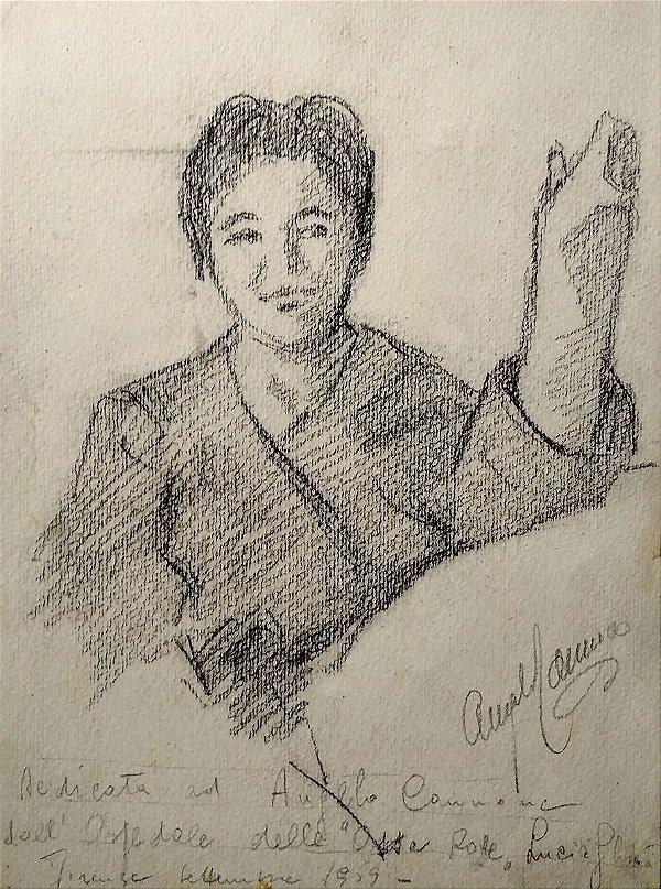 Angelo Cannone - Desenho Original, Retrato de João Kozo Suzuki