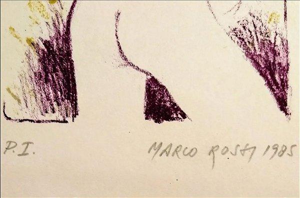 Marco Rossi - Gravura P.I. Original, Nu Feminino, 1985