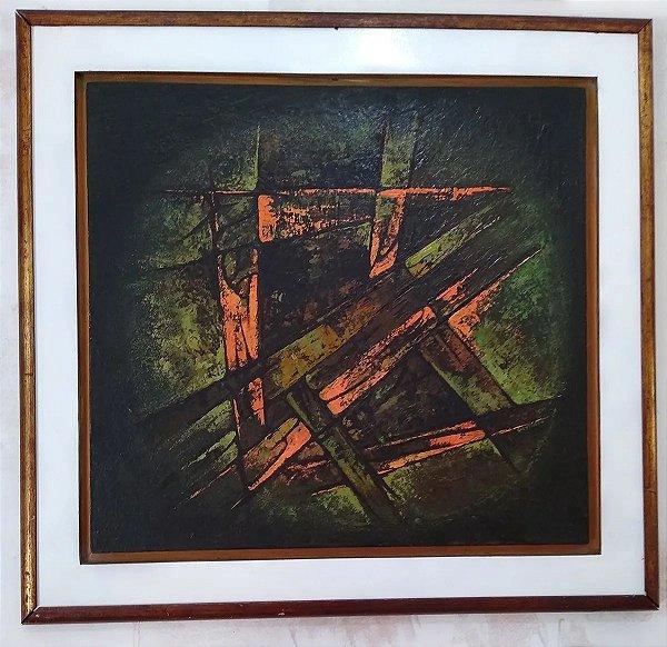 Dulce Weytingh - Quadro Pintura Acrílico sobre Tela Concretismo Abstrato