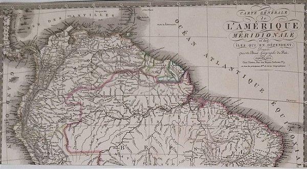 Mapa do Brasil Original de 1826,  Amerique Meridionale - Editado na França