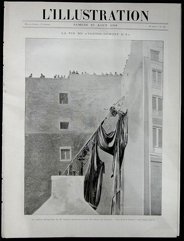 Santos Dumont, Jornal L'illustration 1901 Acidente