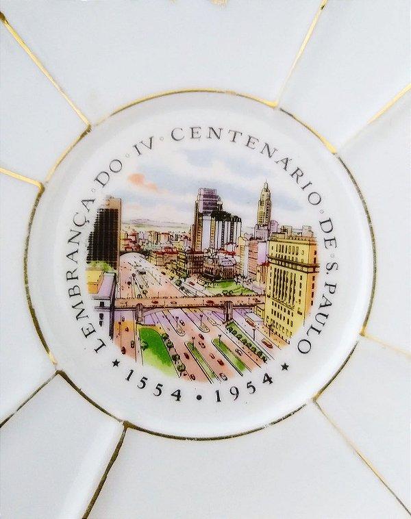 IV Centenario de São Paulo - Antigo Prato Comemorativo, Imagem do  Viaduto Chá