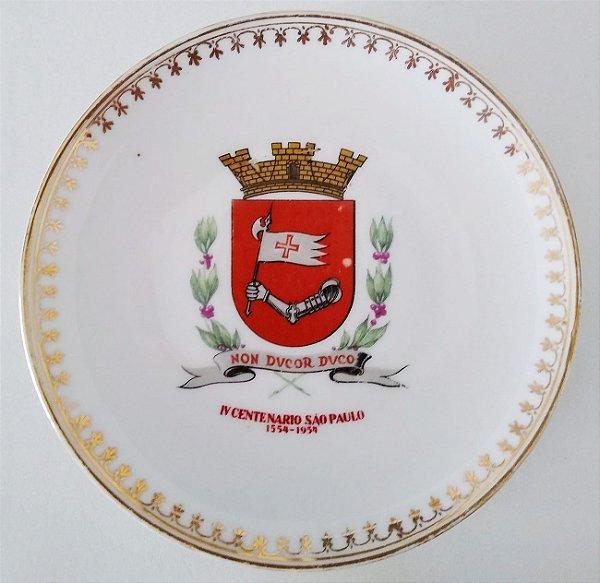 IV Centenario - Prato Comemorativo com Brasão Estado De São Paulo