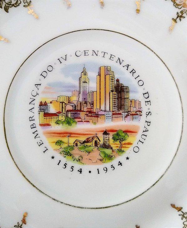 IV Centenário de São Paulo - Antigo Prato com Imagem do Banespa
