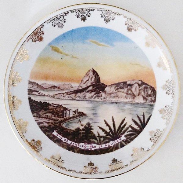 Rio Janeiro, Prato Antigo Com Imagem do Pão de Açucar