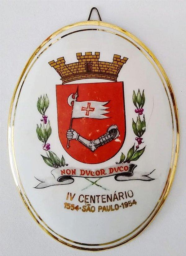 IV Centenário de São Paulo, Medalhão de Porcelana com Brasão da Cidade