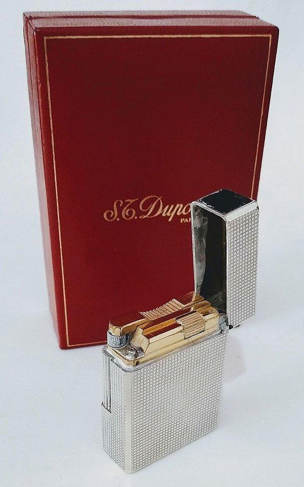 Isqueiro Francês Dupont Sem Uso, Cabeçote Com Banho De Ouro, na Embalagem Original