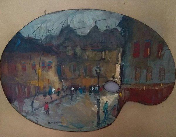 Mauricio Machado - Quadro, Pintura com Imagem do  Rio de Janeiro  Sobre Paleta
