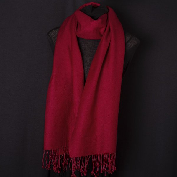 Pashmina Original Nepal com Seda Vermelha
