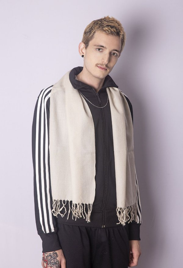 Cachecol Masculino 100% Lã da Kashmira Gelo