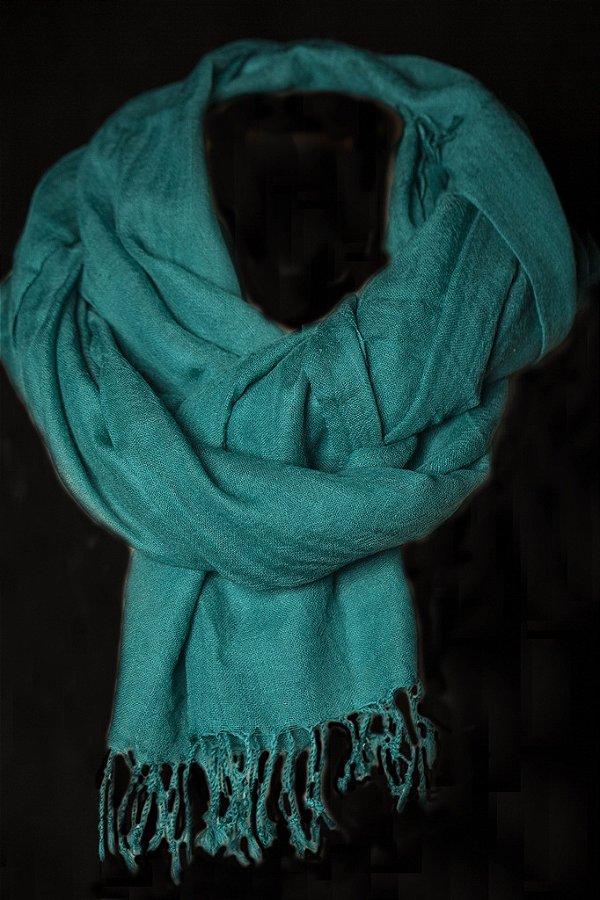Pashmina 100% Lã da Kashmira Esmeralda