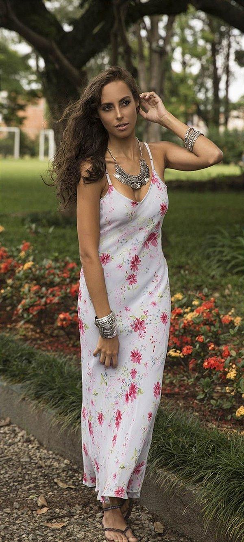 Vestido Crepe Georgette Floral