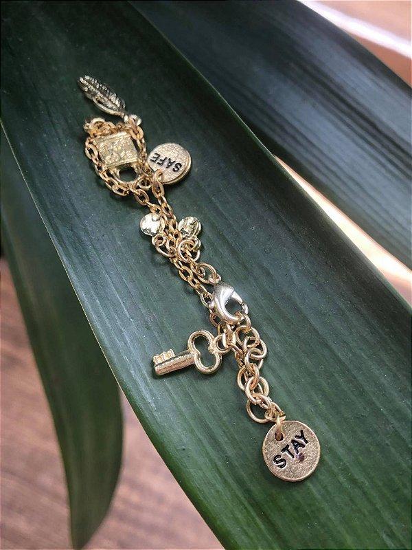 Pulseira Amuletos Stay Safe Collection Indian Handmade Banhada a Ouro SALE Dia dos Namorados