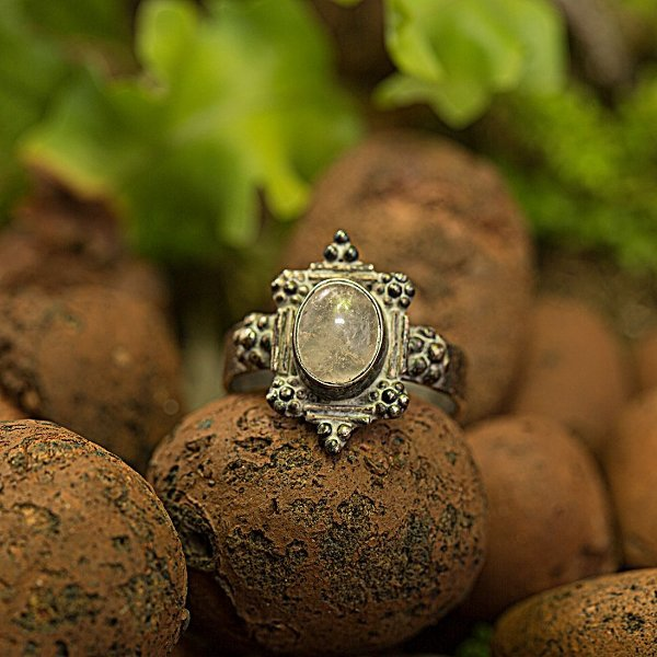 Anel Prata Zaara (3 Opções de Pedra Disponíveis)
