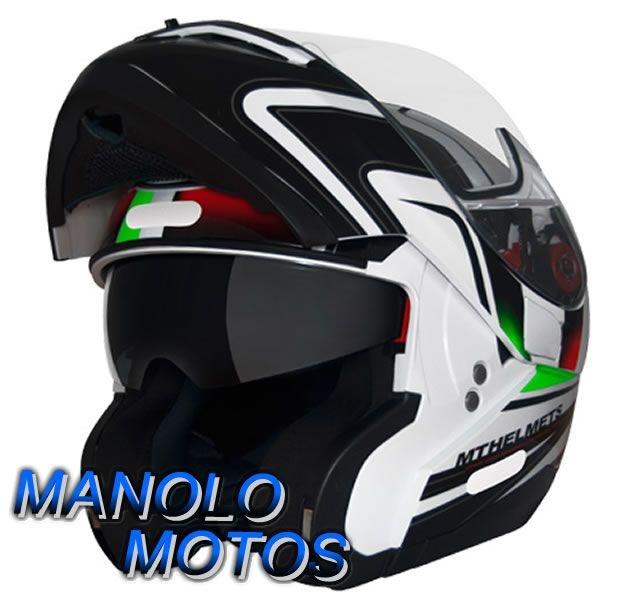 Capacete MT Optimus SV Tricolore Italy (Escamoteável)