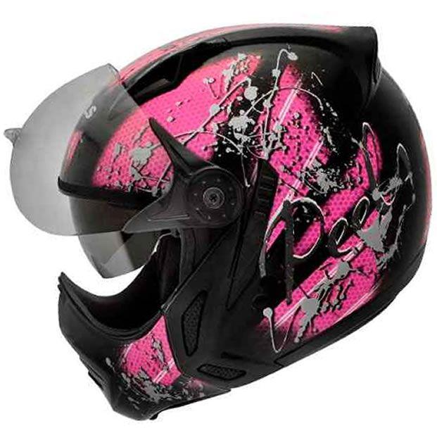 Capacete Peels Feminino Mirage Splash (Rosa) Com Viseira Interna