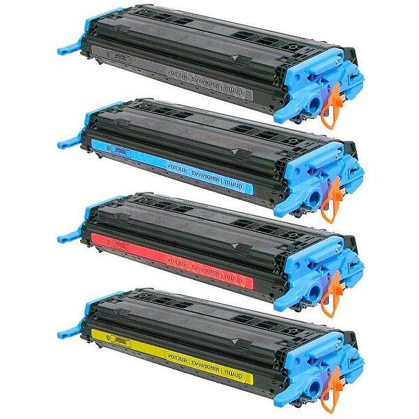Kit 4 Toners HP 124A Q6000A Compatível 1600 2600 2605DN CM1015 CM1017