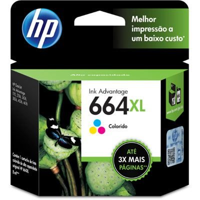 Cartucho HP 664XL colorido F6V30AB Original