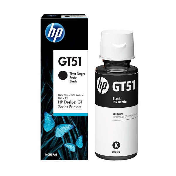 Refil Tinta HP GT 51 Preto GT5822 (M0H57AL) Original