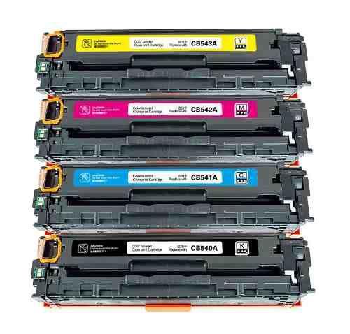 Kit 4 Toners Hp CP1215 CP1515   125a Bk/C/M/Y CB540 CB541 CB542 CB543 Compativeis