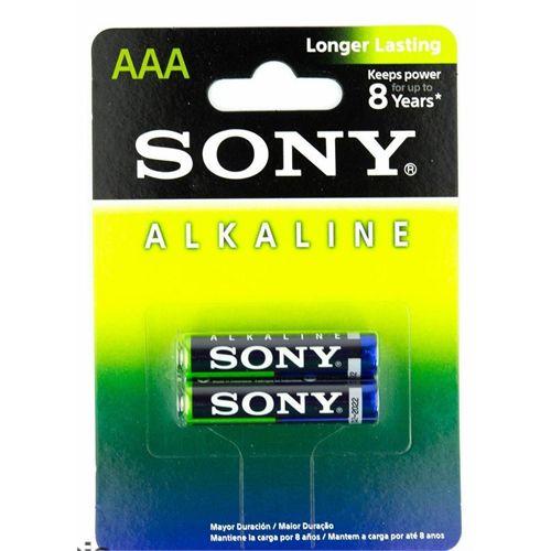 Pilha Alcalina Sony AAA (Palito) Cartela c/4 Pilhas - 01 Cartela