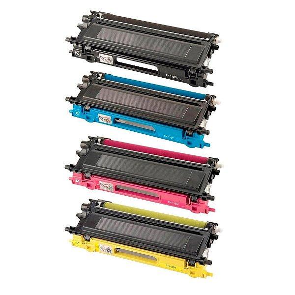 Kit 4 Toner Brother TN115 Compatível DCP9040 HL4040 HL4070 MFC9440 MFC9450