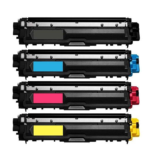 Kit 4 Toner Brother TN221 Compatível HL3140 HL3170 DCP9020 MFC9130 MFC9330